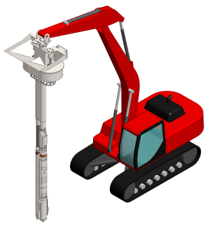 Excavator Mounted Vibroflot